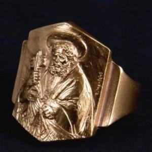 Františkov pozlátený rybársky prsteň