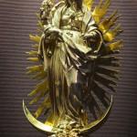 Baroque gold religious sculpture Virgin Mary