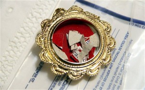 kus látky s krvou po atentáte na Jána Pavla II