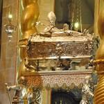 strieborný relikviár s ostatkami sv. Vojtecha
